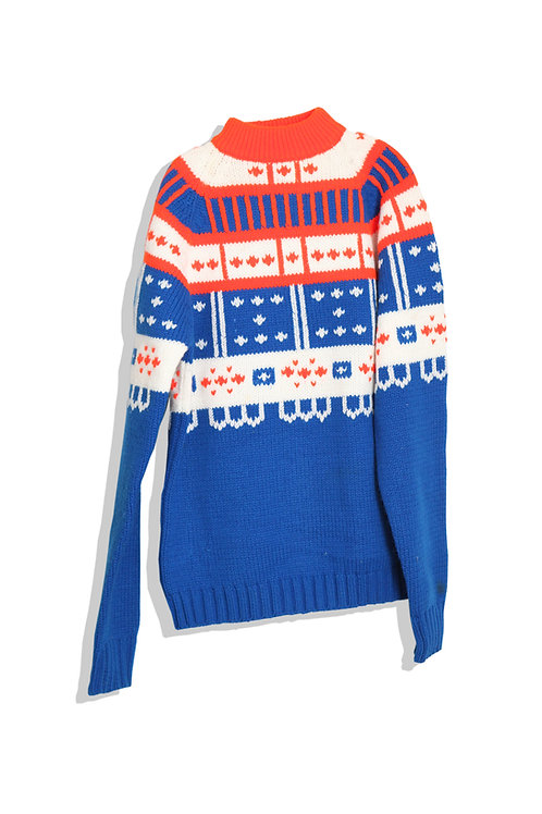 Blue nordic sweater