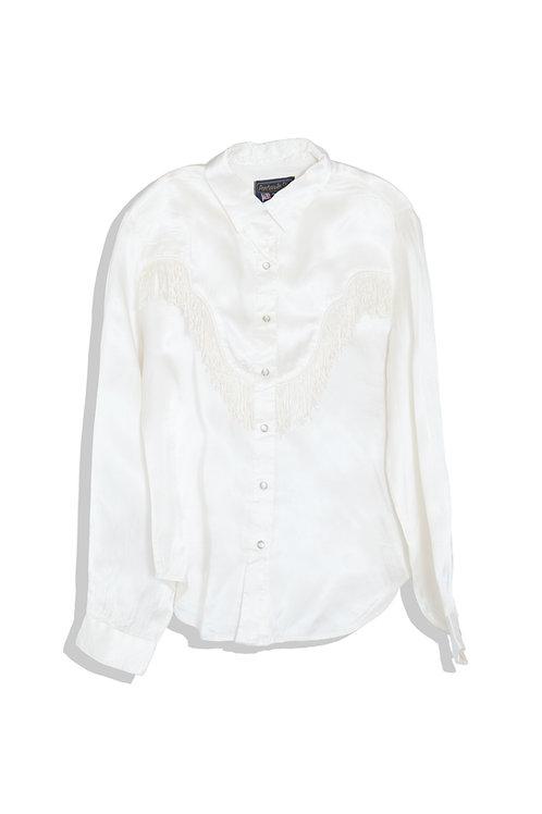 American cowboy shirt with fringe
