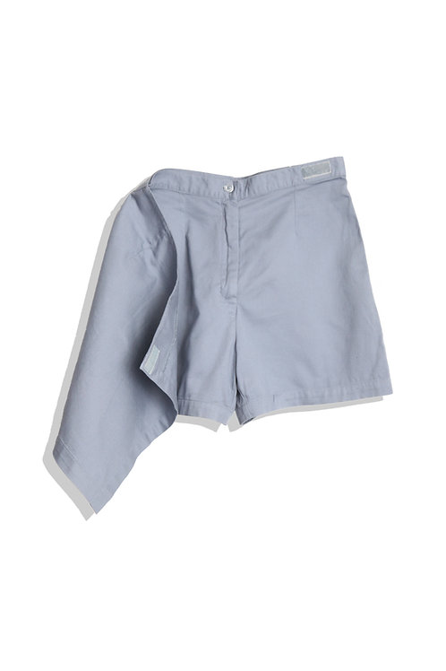 Blue Grey Spontaneous Shorts