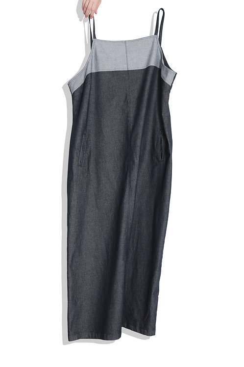 Super long denim dress