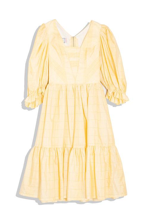 soft yellow vintage dress
