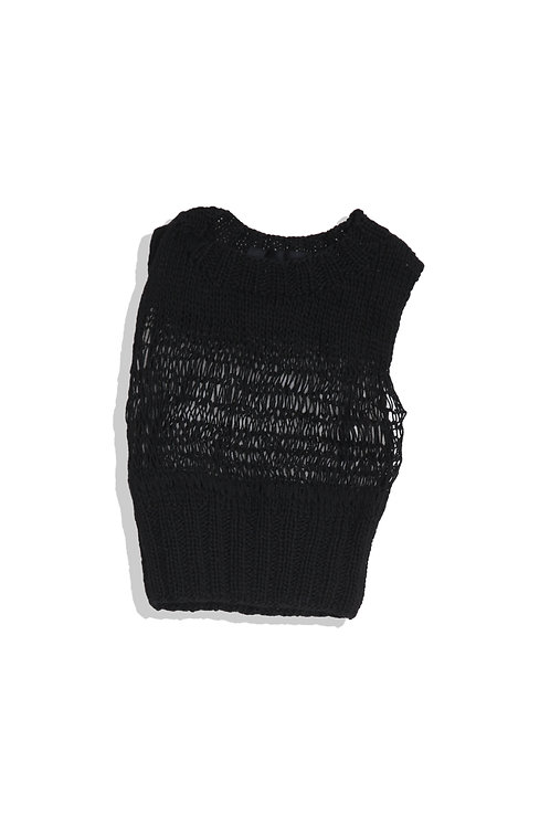 tricot CDG knit vest