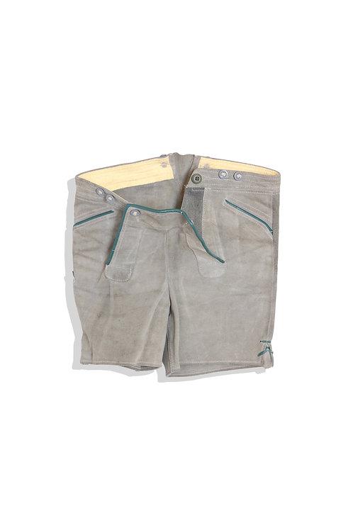 heavy leather short pants