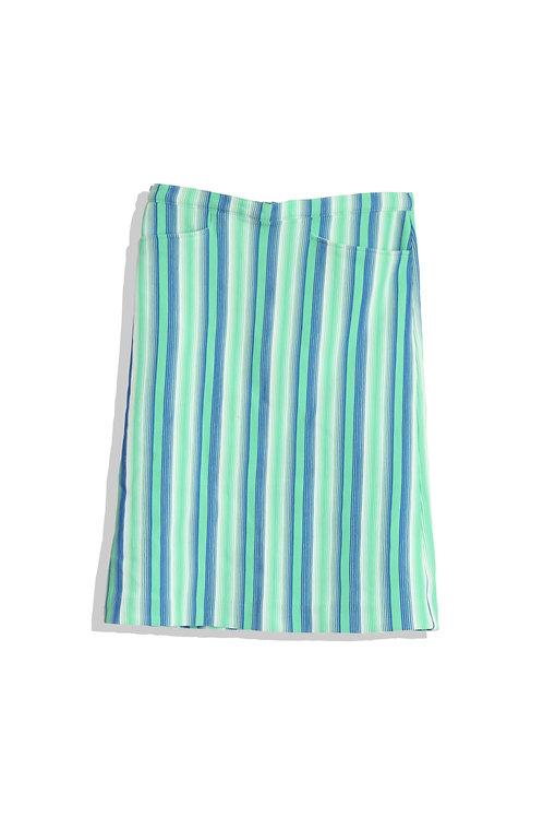 green blue stripe skirt
