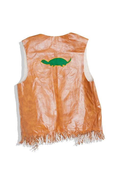 Leather Vest wit Turtle