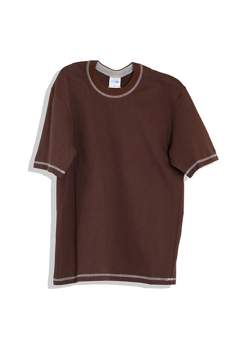 well; Ringer tee-shirts (brown)