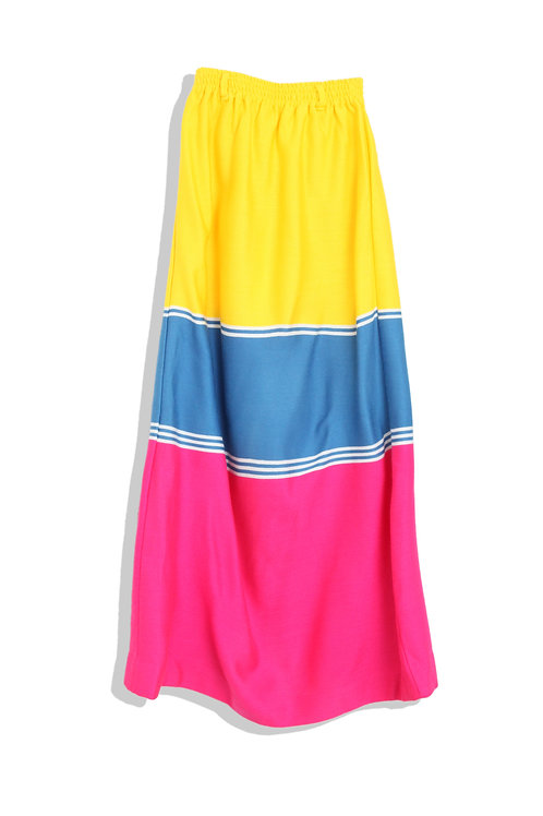3 colored maxi skirt