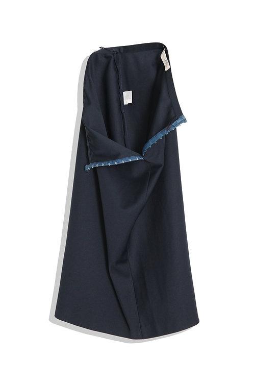 miumiu dark blue skirt
