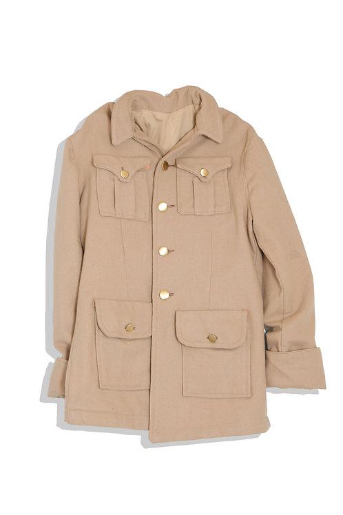 Gold button / camel body coat