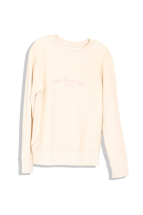 well; Our sweat shirt (ivory)