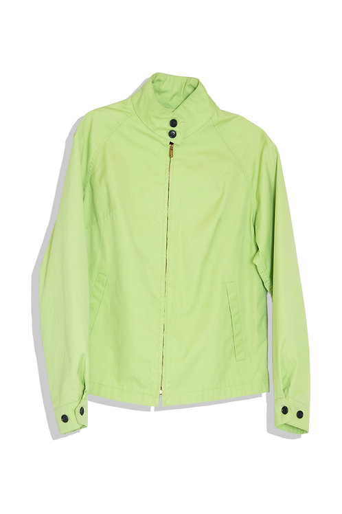 lime green stand collar