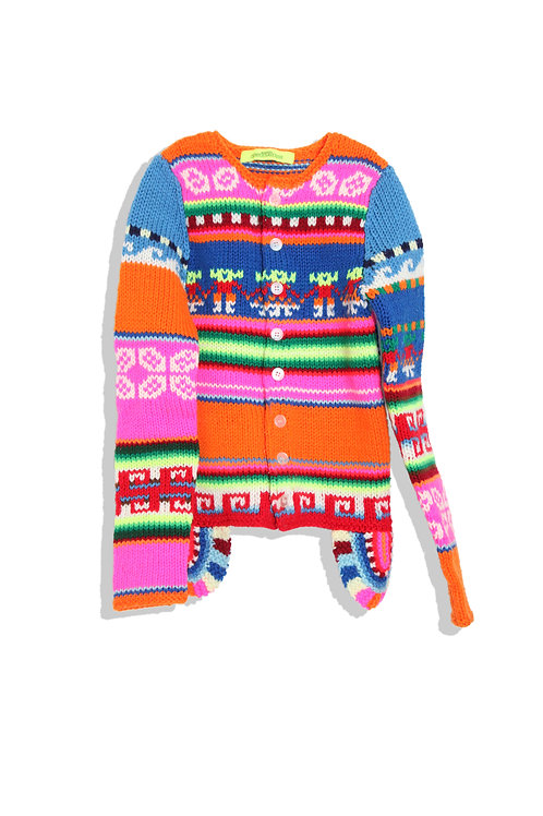Colorful Cowichan Sweater by ZUCCA
