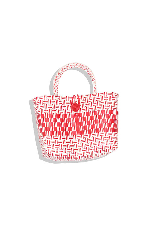 Little plastic bag (red & white)
