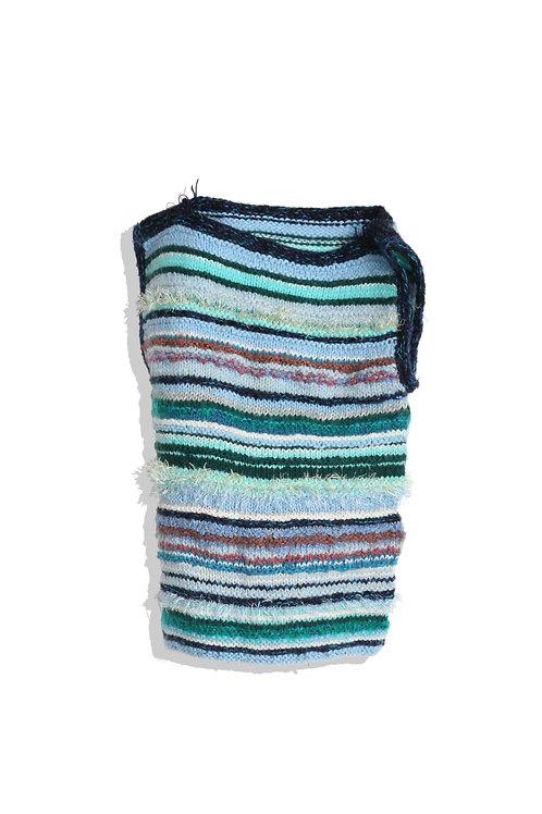 Multi Blue Green Knit