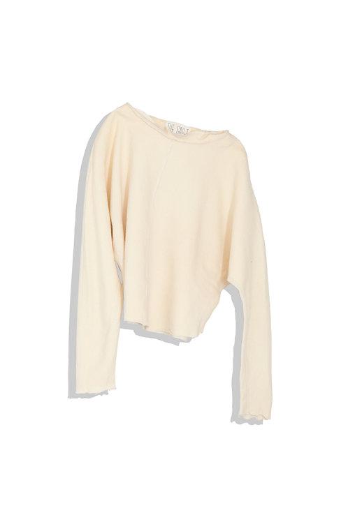cream white wool top