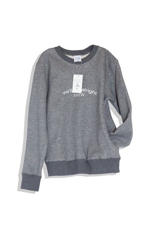 well; Our sweat shirt (gray)