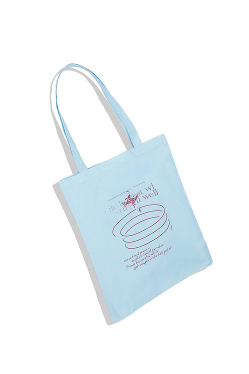 well's tote bag BLUE