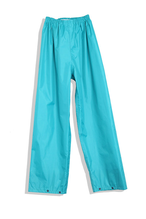 Rain trousers emerald green