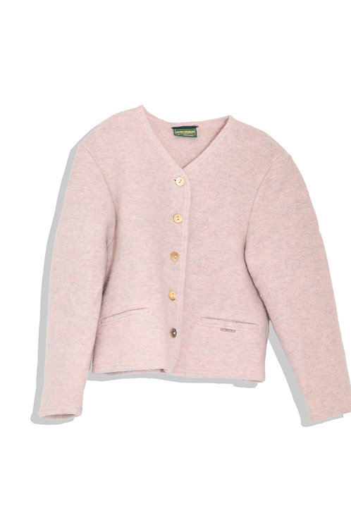 wool thick cardigan baby pink