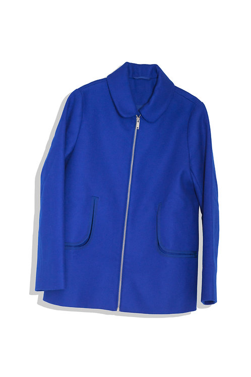 bright blue jacket with pocket