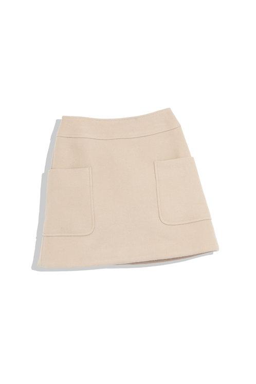 Super mini beige skirt