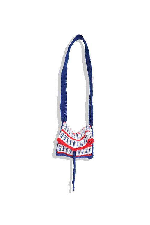 Hand knitted mini bag