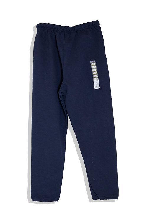 sweat pants, sticker on