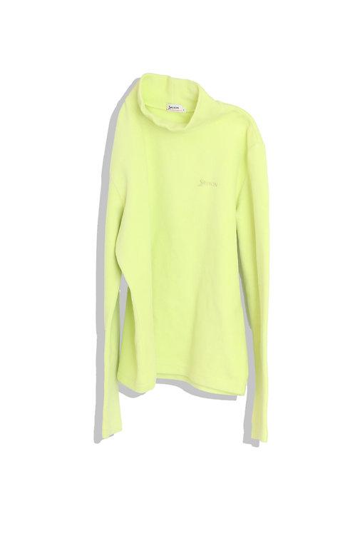 Lemon yellow fleece top