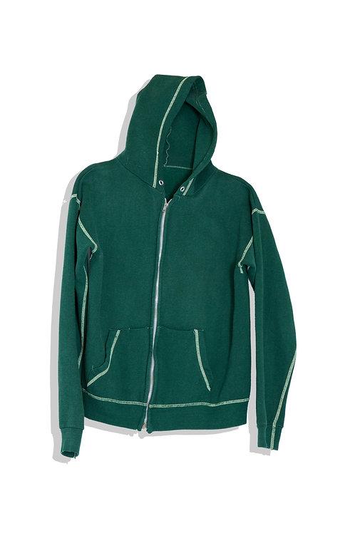 nice & old, green hoodie