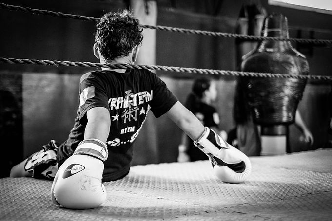 Kid at Kram team boxing club © Sabri Benalycherif