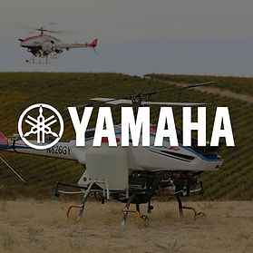 Yamaha RMAX and Fazer crop spraying vineyard