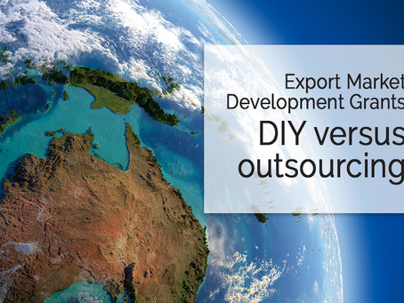 Export Market Development Grant (EMDG) - DIY vs outsourcing to a professional