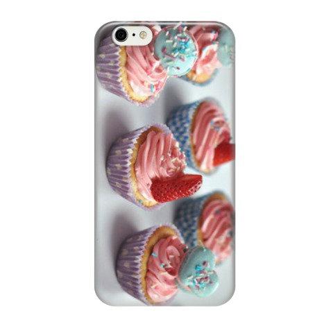 "Чехол ""cupcakes with strawberries"""