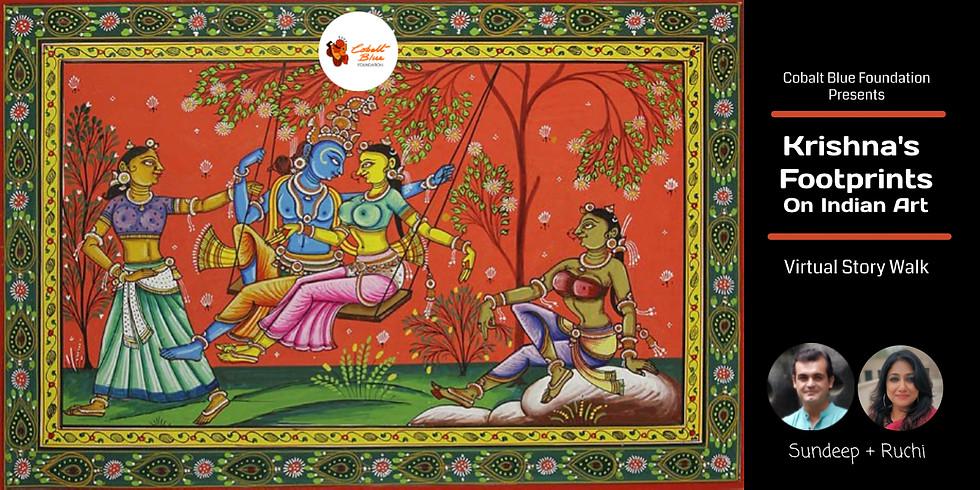 Krishna's Footprints On Indian Art