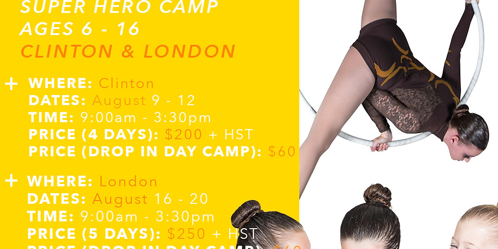 Super Hero Camp - London & Clinton