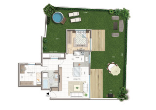 3 room apartment Garden Apartment (67 m²) 100 m² garden