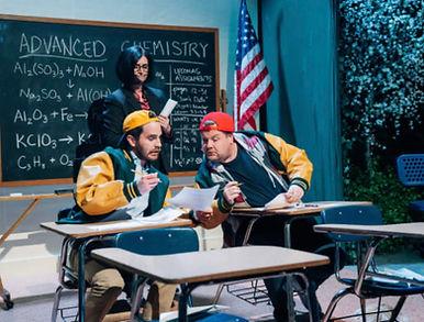 Kim with Corden and Ben Platt.jpg