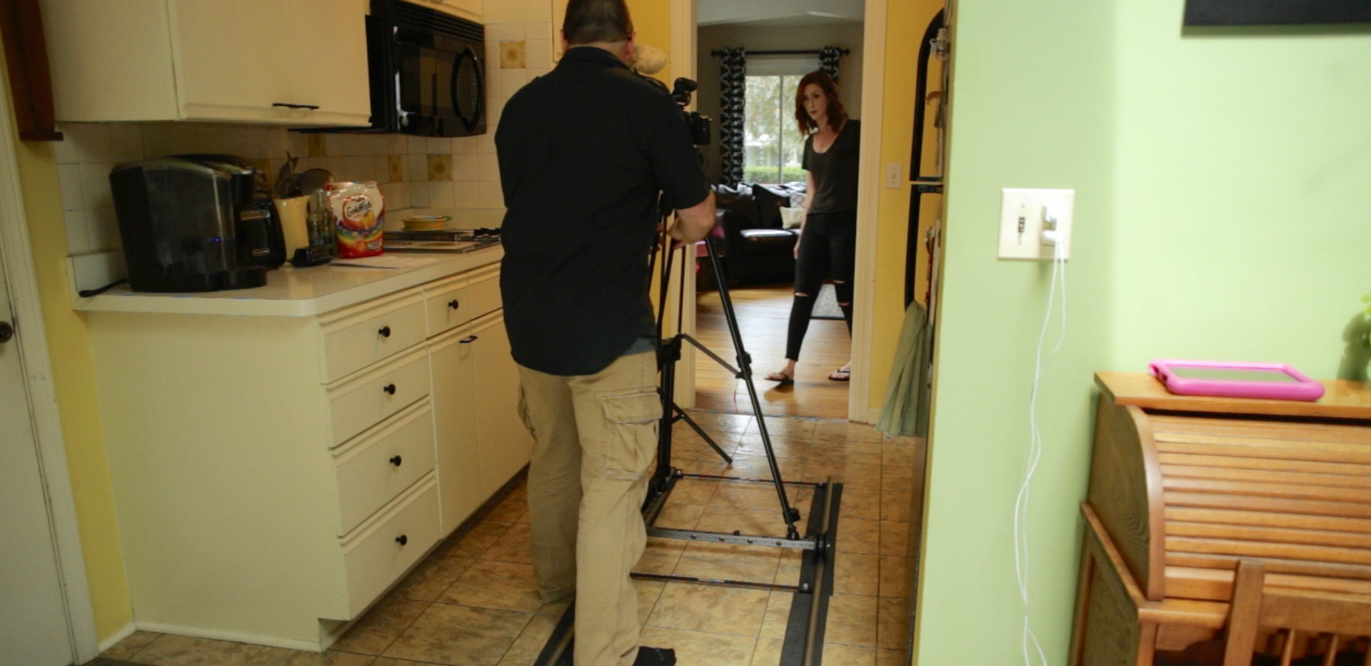 Behind the scenes The Sitter Camera Dolly Kit