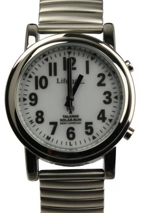 Solar Atomic Talking Watch - Expanding Bracelet
