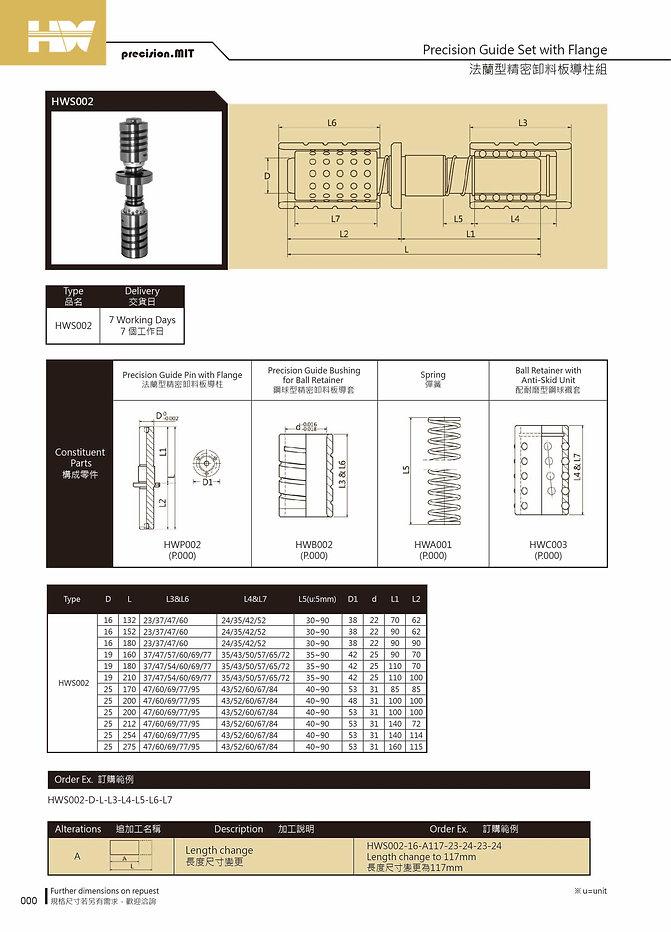 法蘭型精密卸料板導柱組