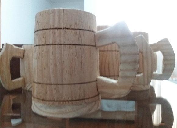 Caneca de madeira para cerveja
