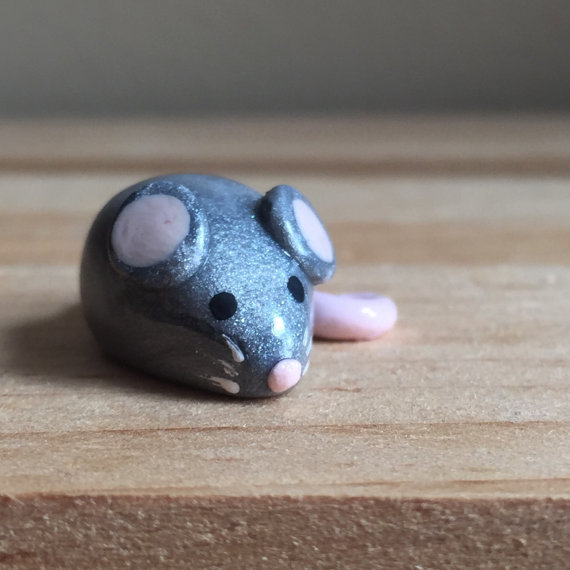 Miniature polymer clay mouse