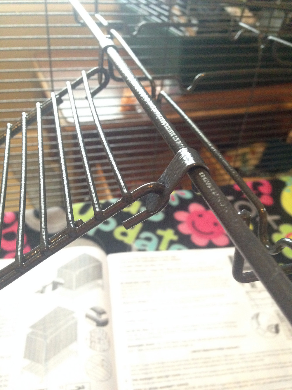 """Wire ramp uses """"ramp clips"""" to attach to the Critter Nation cage shelf frame"""