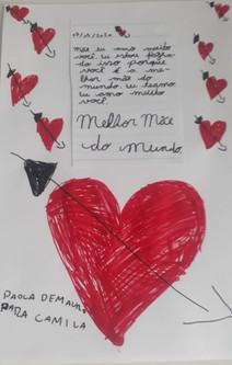 Homenagem da Paola para sua mãe, Camila