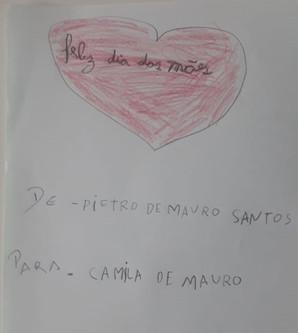 Homenagem do Pietro para sua mãe, Camila