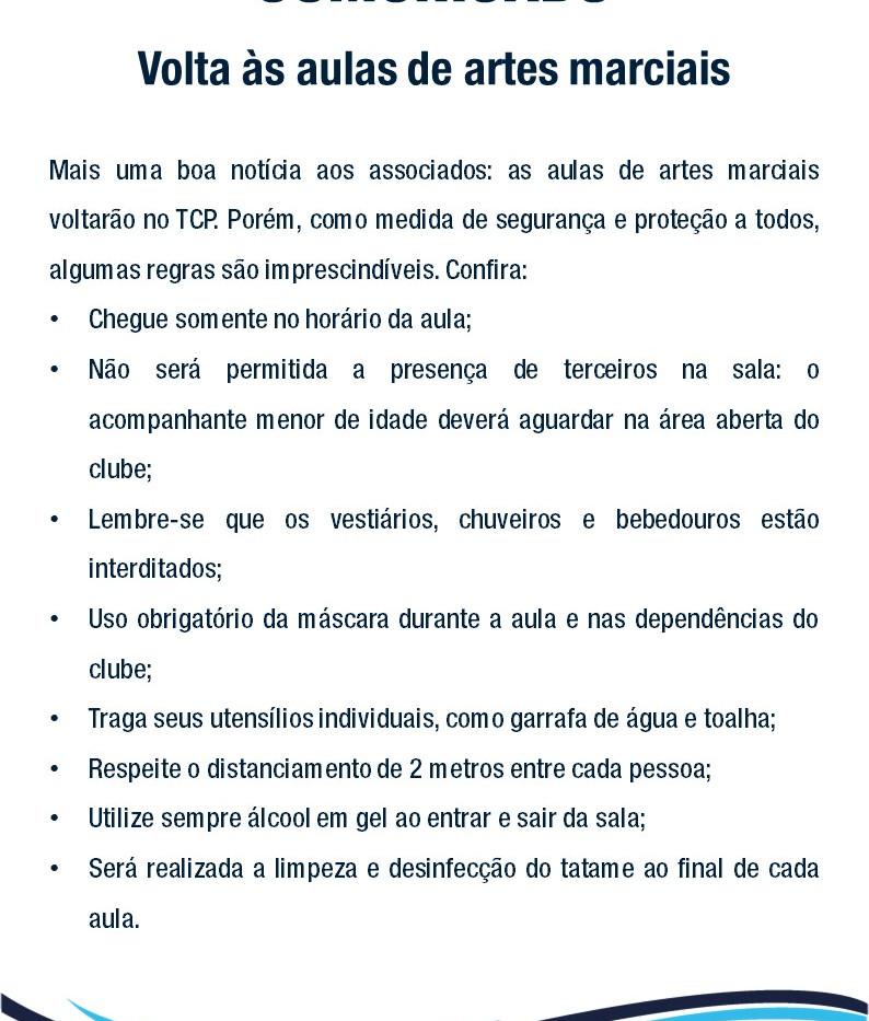 Comunicado - Artes Marciais de volta_sit