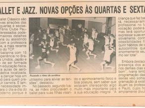 #TBT Jazz e Ballet Clássico no Tênis Clube Paulista