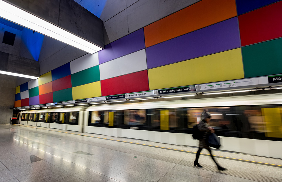 COLOUR - Buda Metro by Brian Maguire ( 11 marks)