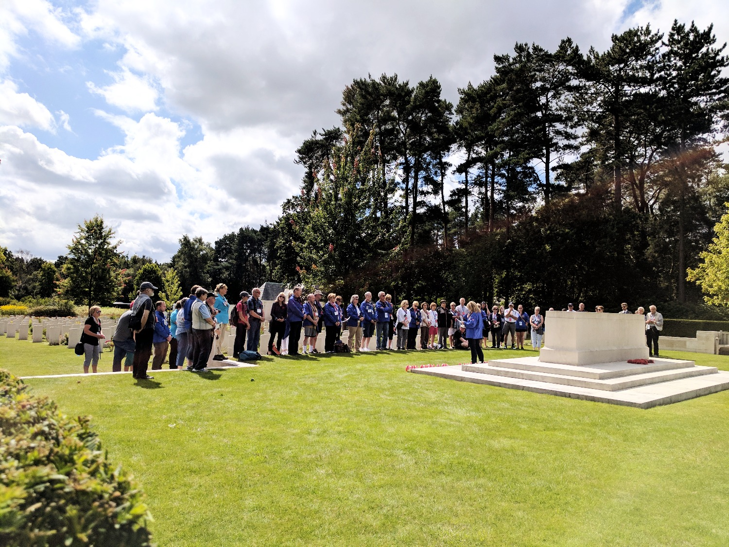 There was something about this day that I will never forget - with the assistance of CWGC's historical team, we traced back family history at the Canadian Section of the Brookwood Military Cemetery, in Surrey, England, before coming together for a private ceremony.