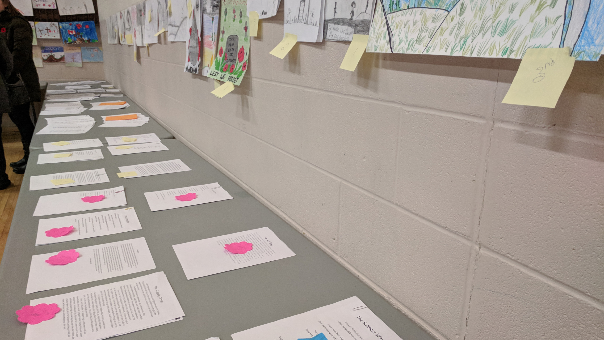 This year, for Remembrance Day, I got to spend my time with my local community in Watson, SK. Every year the school children will draw a picture, and write and essay about what they reflect on when they think about Remembrance Day. It was a wonderful sentiment, and a wonderful service - followed by a wonderful dinner, yum! Thank you to the Watson Legion & the Sejevick Family